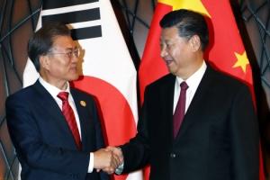 """시진핑, 정상회담서 """"한국, 떨어질 수 없는 이웃…관계발전 강력 희망"""""""
