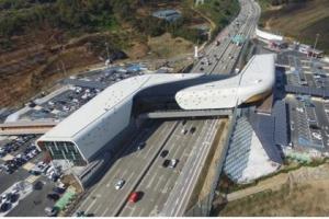 시흥 하늘 휴게소 개장…고속도로 위에 설치, 일산·판교 양방향 이용가능