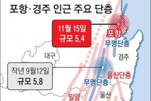 [포항 5.4 지진] 경주 지진으로 無名단층에 쌓인 응력 분출… 또 큰 지진 가능성