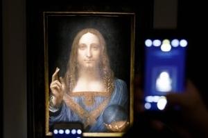 다빈치 예수 그림 5천억원에 낙찰…세계 최고가 미술품 등극