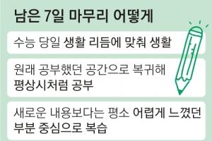 """""""7일 더 주어져"""" 수험생들 다시 열공모드…대치동 학원가 '일주일 70만원 특강'도"""