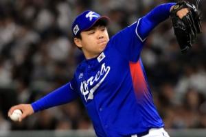 [포토] 아시아 프로야구 챔피언십, 선발 출격한 장현식