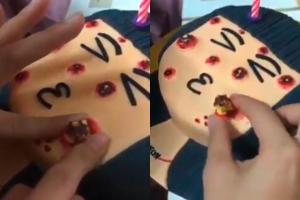 여드름 형상화한 케이크, SNS서 인기