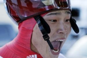 [포토] 스켈레톤 윤성빈, IBSF 월드컵 금메달…'기쁨의 포효'