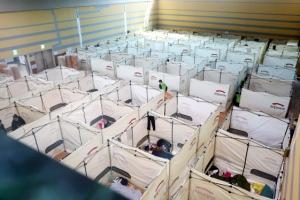 이재민 대피소 개인용 칸막이 설치