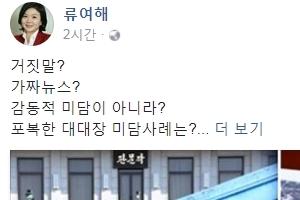 """류여해, JSA대대장 미담 논란에 """"가짜뉴스?···진실을 알고싶다"""""""
