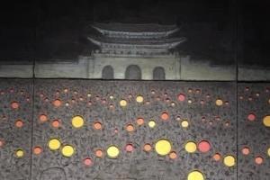 청와대 본관에 대형 '촛불 시위' 그림 걸렸다