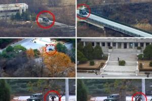 [포토] 남한으로 달려오는 귀순 북한 병사