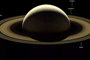 우아한 토성…美 탐사선 카시니호의 마지막 사진