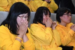 [서울포토] 세월호 참사 유가족들, 사회적 참사법 통과에 흐르는 눈물