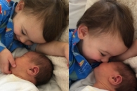 [별별영상] 갓난 여동생이 귀여운 아기