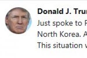 """트럼프 """"오늘 북한에 추가제재 단행"""""""