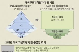 대학 평가 6→3등급·인원 감축 5만→2만으로 완화