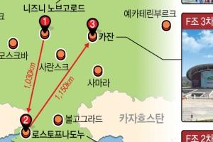 신태용호 러시아월드컵 조별리그 치를 경기장 살펴보면