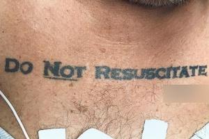 '심폐소생술 거부' 문신으로 존엄사 결정한다?