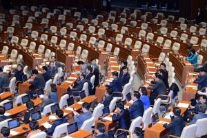 [서울포토] 국회 본회의 '불참 자유한국당'