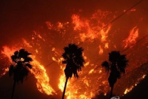美캘리포니아 또 '통제불능' 산불…여의도면적 70배 태우고 확산