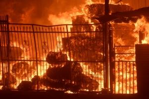 [포토] 美 캘리포니아에 초대형 산불…가옥 소실·주민 대피