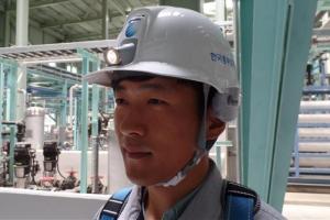 [안전이 미래다] 한국중부발전, 충격 감지·사고 통보 스마트 안전모 개발