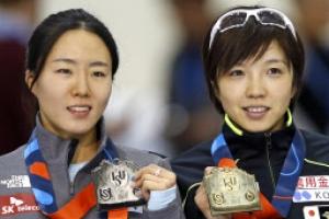 이상화, 4차 월드컵 500m 2차 레이스도 고다이라에 뒤져 은메달