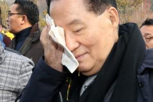계란 맞은 박지원, 安지지녀 투척 이유가…경찰, 폭행 혐의 입건