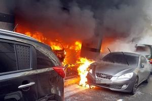 천안 4층짜리 원룸 건물서 화재 발생…12명 부상