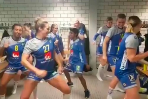 스웨덴 여자핸드볼 대표팀의 단체댄스 화제