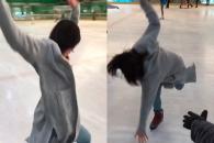[별별영상] 스케이트 처음 타는 소녀의 좌충우돌