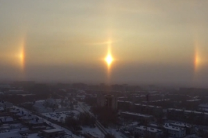 '태양이 동시에 세 개??' 러시아서 포착된 '환일 현상'