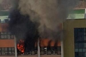 [포토] '천만다행' 서당초 화재, 15분여 만에 꺼져