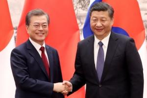 시진핑, 문 대통령 발언 때 화기애애 눈맞춤…'끄덕끄덕'