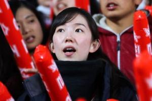 [포토] '북한 미녀 응원단' 열띤 응원