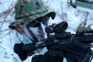 [포토] '추위는 물러가라!'…한·미 해병대, 설한지 연합훈련