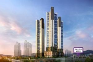 고층 아파트 랜드마크로 발돋움, '청주 행정타운 코아루 휴티스' 눈길