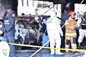 """제천 화재 원인 좁혀져…""""1층 천장서 불붙은 스티로폼이 차량에 떨어져 발화"""""""