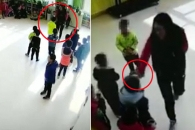 아이들 발로 차고 밀치는 中 보육원 교사