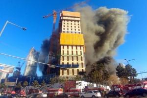 4일 만에 또… 광교 공사장 화재 1명 사망·14명 부상