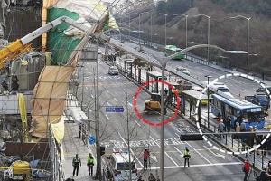 또 크레인 사고… 이번엔 버스 덮쳐 1명 사망·15명 부상