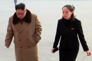 [포토] 北 김정은, 축하공연장에 김여정과 나란히 등장