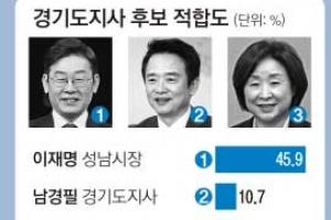 [단독] [새해 여론조사] 이재명 전 계층서 높은 지지 받아… 남경필은 남성·60대 이상…