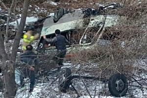 양구서 훈련병 탄 군용버스 추락… 22명 중경상