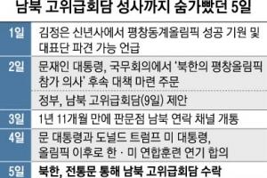 '北신년사~남북회담' 숨가빴던 닷새… 두 정상 지휘로 성사