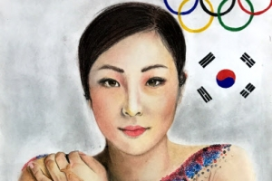 [포토] 인도 학생이 그린 '김연아'