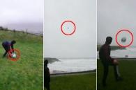 시속 155km 강풍에 부메랑처럼 돌아오는 공