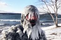 '얼음인간'으로 변신한 혹한 속 서퍼