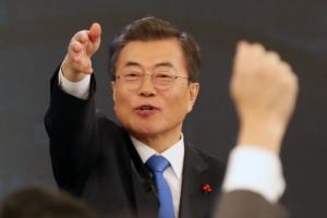 [서울포토] 신년기자회견서 질문자 지정하는 문재인 대통령
