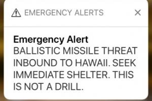 '탄도 미사일 하와이로' 거짓 경보 메시지에 하와이 화들짝