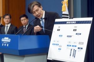 [서울포토] 권력기관 개혁방안 설명하는 조국 민정수석
