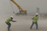 [별별영상] 텍사스 유전 지대에 불어온 강력한 모래폭…