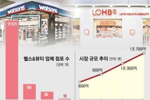 고속 성장 '헬스앤뷰티숍' 2위 다툼 뜨겁다